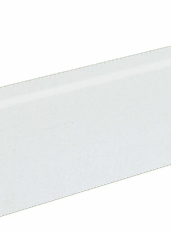 Sockelleiste SU060L FA furniert 19 x 58 mm Buche weiß RAL9010 FRBU071 lackiert, 250 cm
