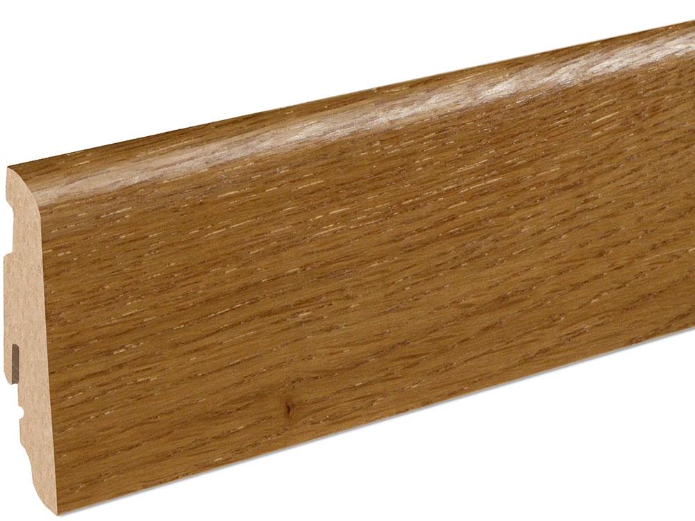 Sockelleiste SU060L MD furniert 19 x 58 mm Eiche Toffee FLEI331 lackiert, 240 cm