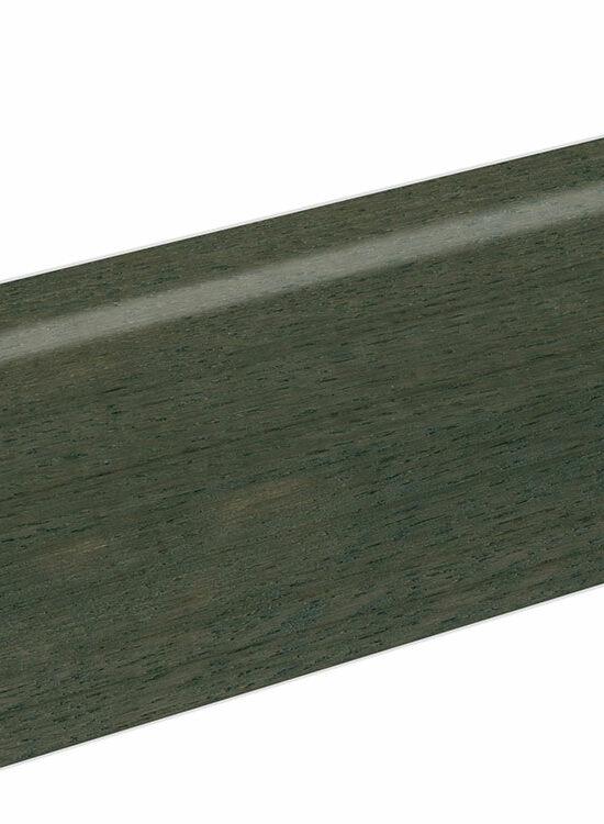 Sockelleiste SU060L MD furniert 19 x 58 mm Eiche schwarz FLEI332 lackiert, 240 cm