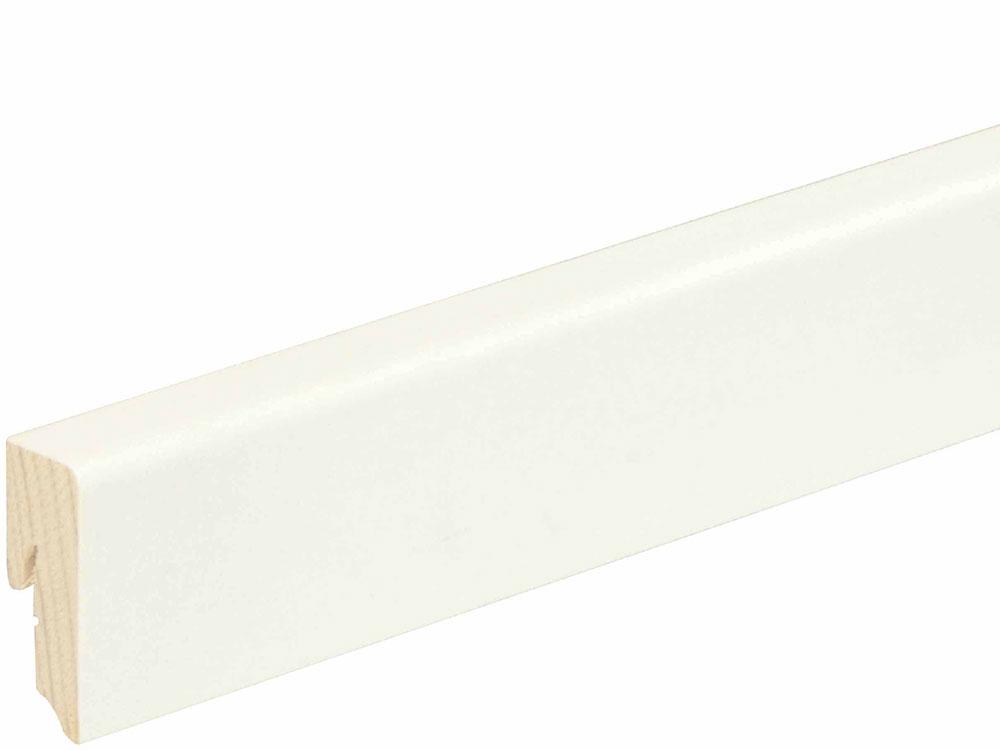 Sockelleiste SU047L FA foliert 16 x 40 mm Weiß FLFO002, 250 cm