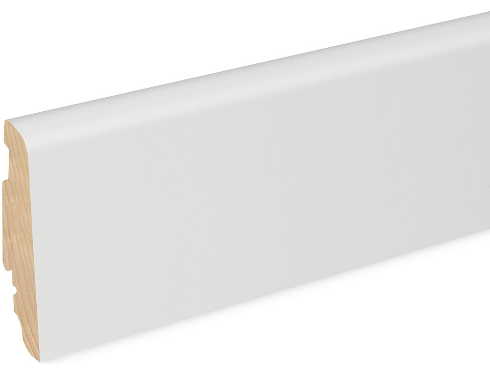Sockelleiste SU060L FA foliert 19 x 58 mm Weiß FLFO002, 250 cm