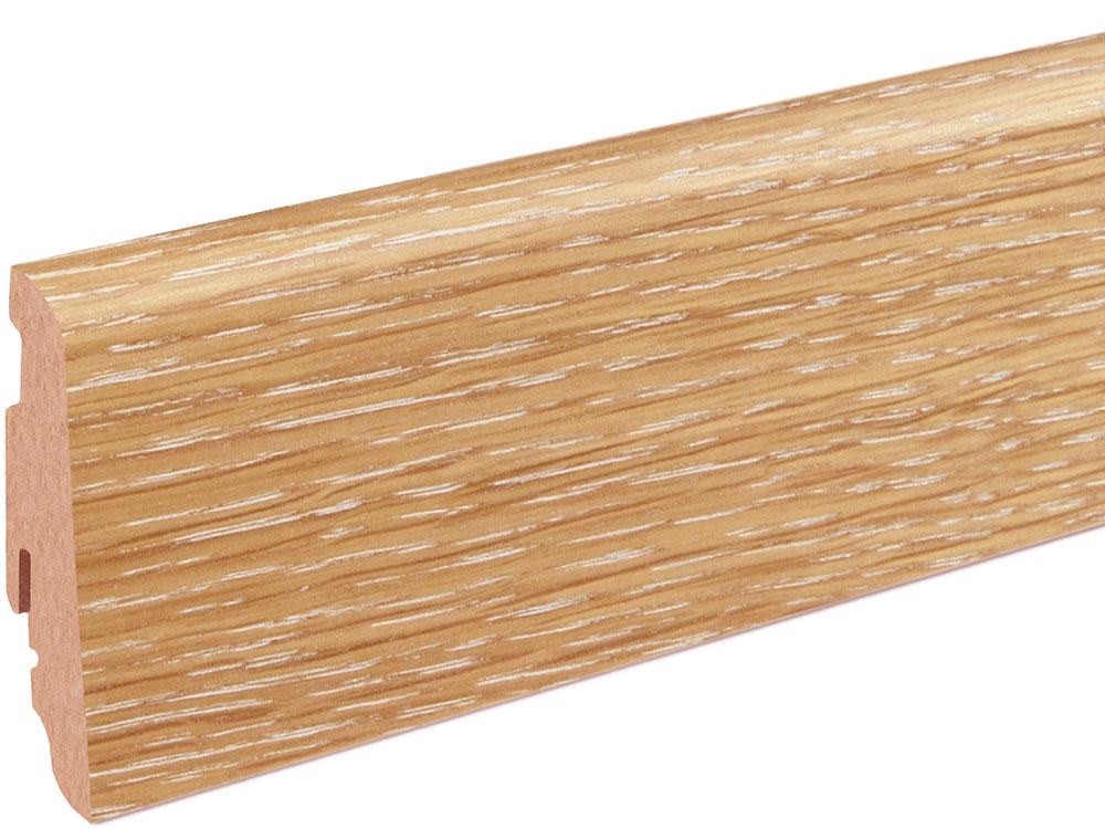 Sockelleiste SU060L MD furniert 19 x 58 mm Oak FLEI128 lackiert, 240 cm