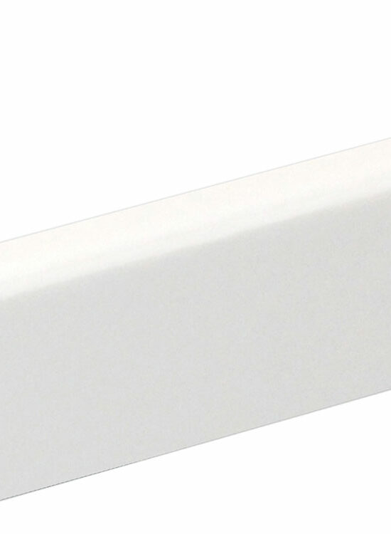 Sockelleiste SU047L FA foliert wasserresistent 16 x 40 mm Weiß deckend FLFO002, 250 cm