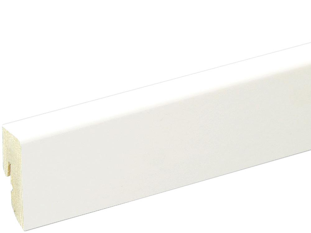 Sockelleiste SU047L FA foliert 16 x 40 mm Weiß RAL9016 FLFO004 lackiert, 250 cm