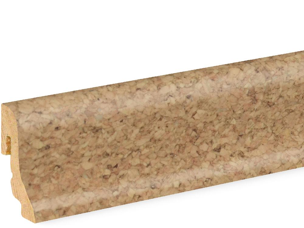 Sockelleiste SU018L FA furniert 18,5 x 38,5 mm Kork fein FRKO001 lackiert, 250 cm