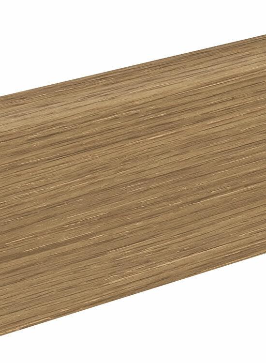 Sockelleiste SU060L MD furniert 19 x 58 mm Eiche lichtweiß FLEI271 lackiert, 240 cm