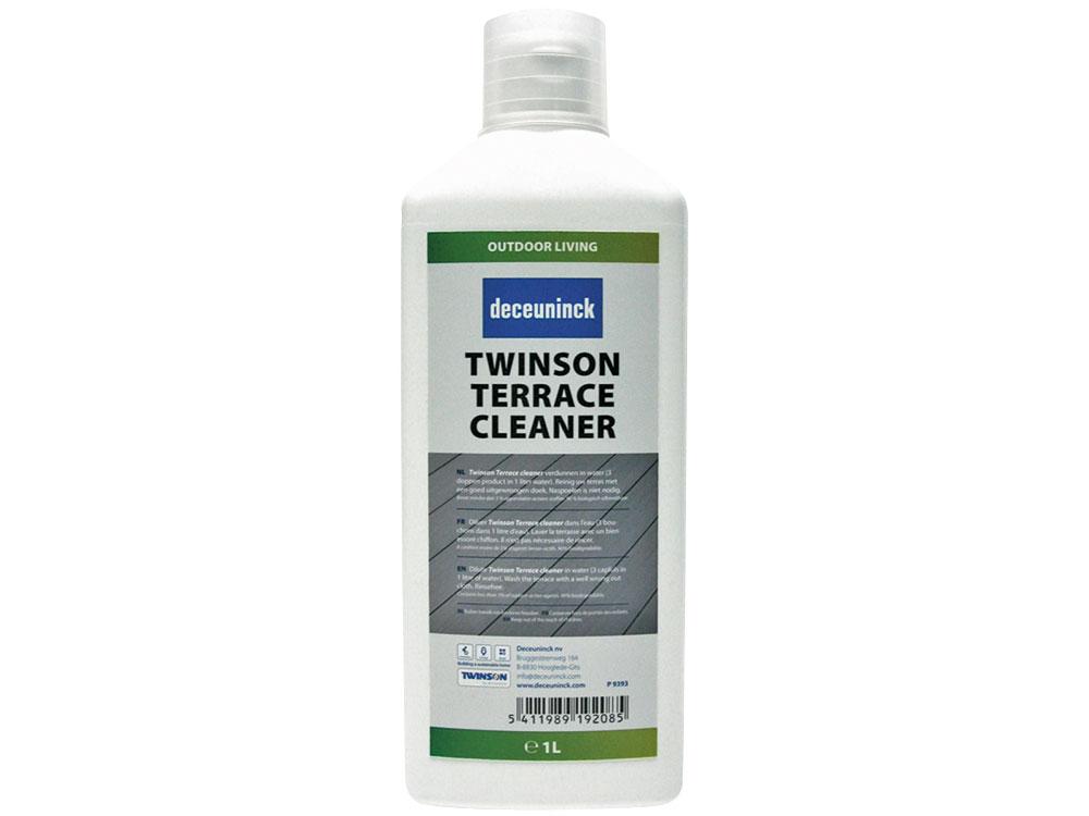 Twinson Reiniger für Twinson Terrassendielen gegen Flecken die kein Fett/Öl enthalten, 1 l