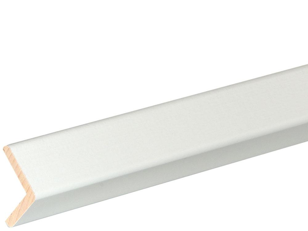 Winkelleiste 27 x 27 mm Buche Weiß lackiert, 240 cm