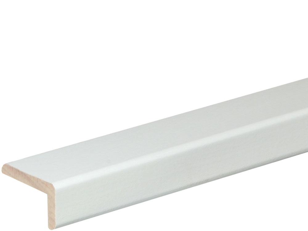 Winkelleiste 19 x 33 mm Buche Weiß lackiert, 240 cm