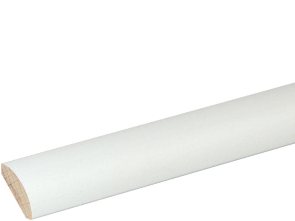Viertelrundstab 18 x 18 mm Buche Weiß lackiert, 240 cm