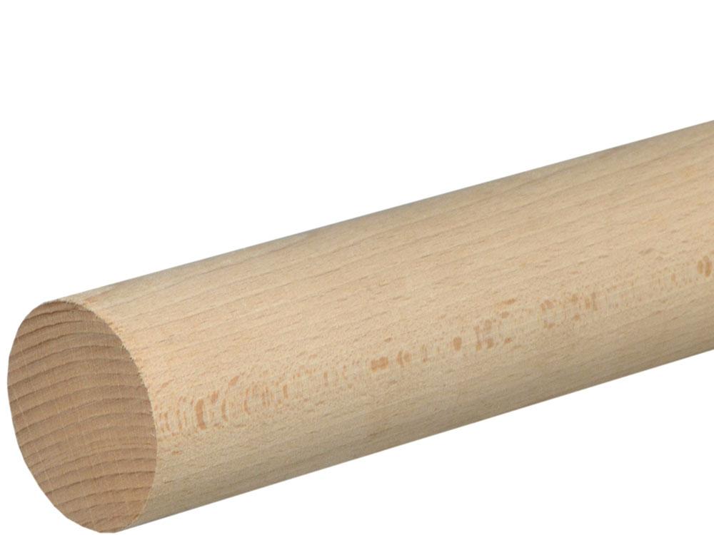 Rundstab glatt 50 mm Buche roh, 100 cm