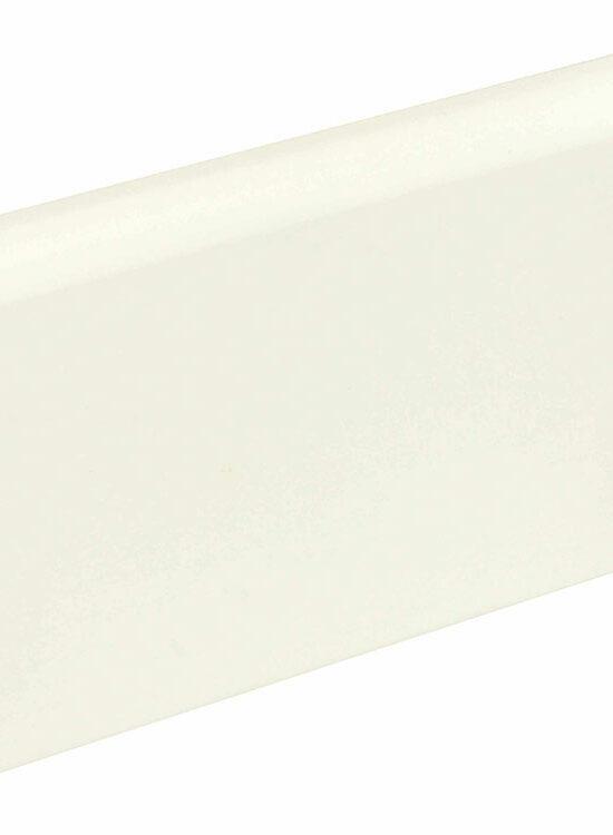 Sockelleiste gerundet L0146L, RAL9010 18 x 96 mm Fichte/Kiefer weiß lackiert, 240 cm