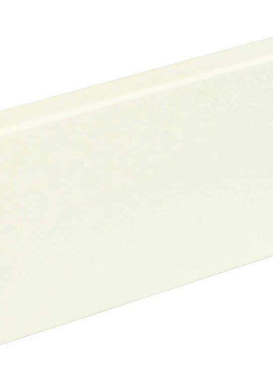 Sockelleiste eckig L0156L, RAL9010 18 x 80 mm Fichte/Kiefer weiß lackiert., 240 cm