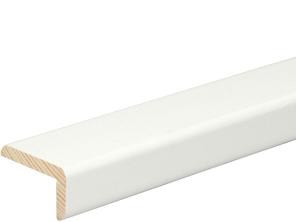 Winkelleiste L0182, RAL9010 19 x 33 mm Fichte/Kiefer weiß lackiert, 240 cm